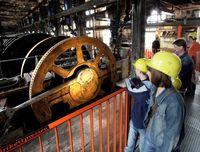 Presse in der Energiefabrik Knappenrode, Foto: Peter Radke
